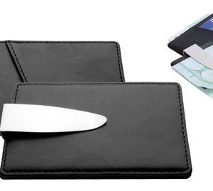 Port card Sullivan si clema pentru bani personalizat