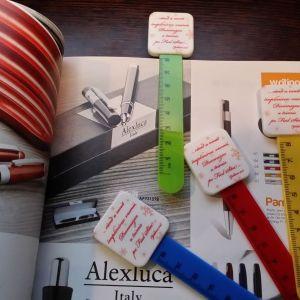Semn de carte cu rigla ReXmark personalizat