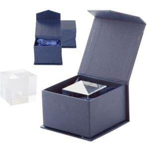 Ideal pentru gravura 3D, ambalat in cutie magnetica albastra, din carton cadou Tampa personalizate