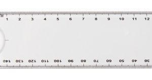 Rigle personalizate cu lupa Linear albe