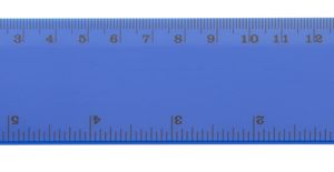 Rigle personalizate din plastic Hebe albastre